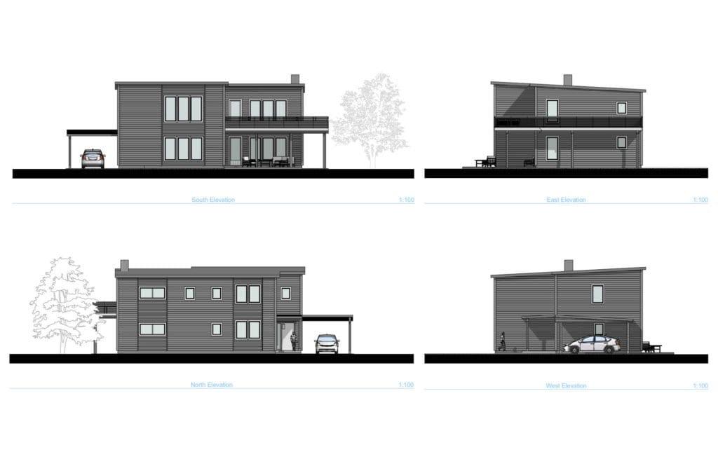 Vienbucio namo fasadai, Norvegijoje