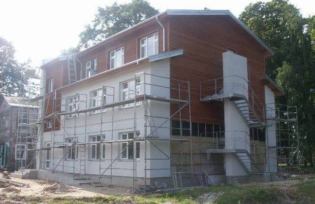 Gyvenamosios paskrities pastato projektas.