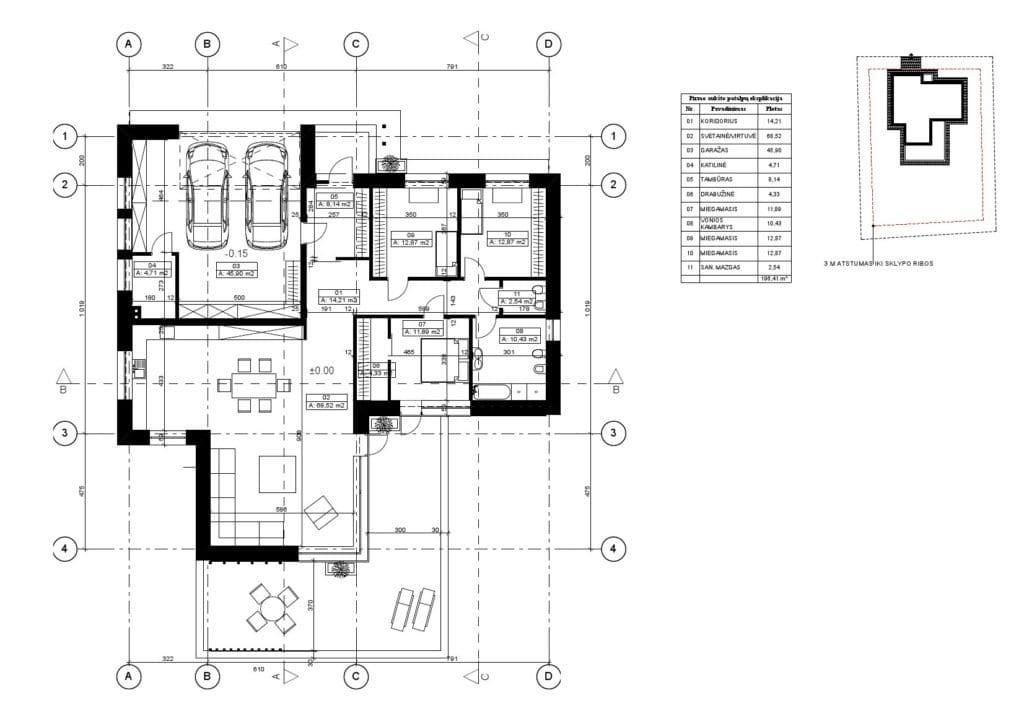 vieno aukšto gyvenamojo namo projektas