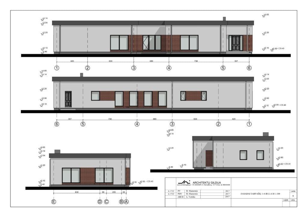 Gyvenamojo namo projektas fasadas
