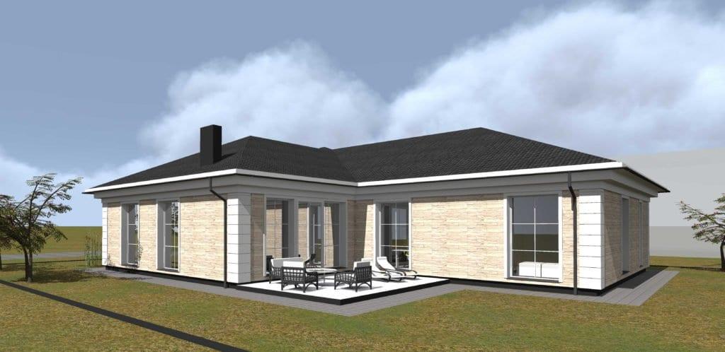 Vienbutis gyvenamas namo projektas