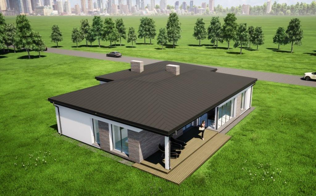 Vienbučio namo projektas.